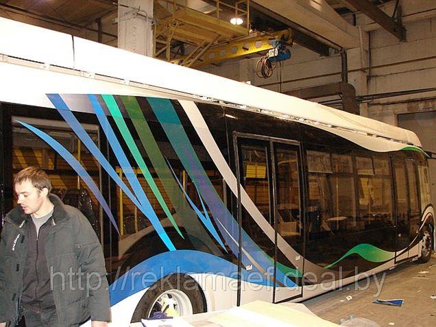 Оформление нового гибридного автобуса для ОАО 'Белкоммунмаш'