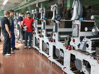 Монтаж и установка новой флексографской печатно-отделочной линии VaryFlex F1 VF-530 в Белорусском Доме печати