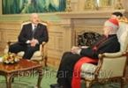 Лукашенко принял кардинала по межрелигиозному диалогу