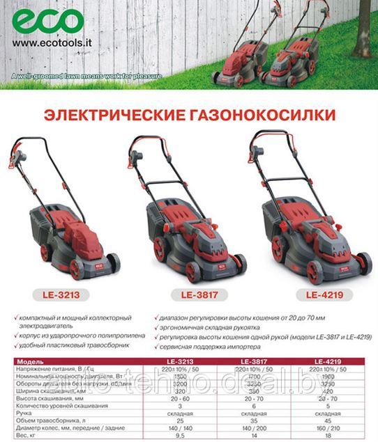 Новинка! Электрические газонокосилки ECO