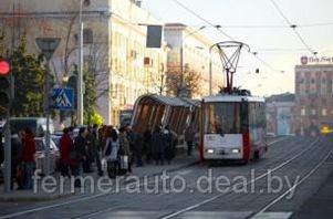 Ремонт трамвайных путей по улице Я. Коласа провоцирует пробки