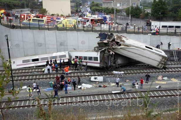 Крушение поезда в Испании: 77 погибших, более 140 пострадавших